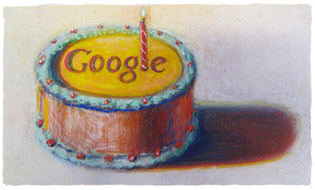 Logo Google 10 ans