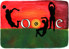 Logo Google coupe du monde foot 2010