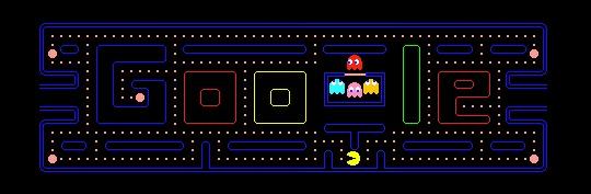 Logo Pac Man Google