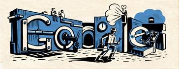 Logo fête du travail Google